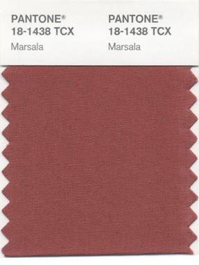 Marsala Pantone couleur 2015