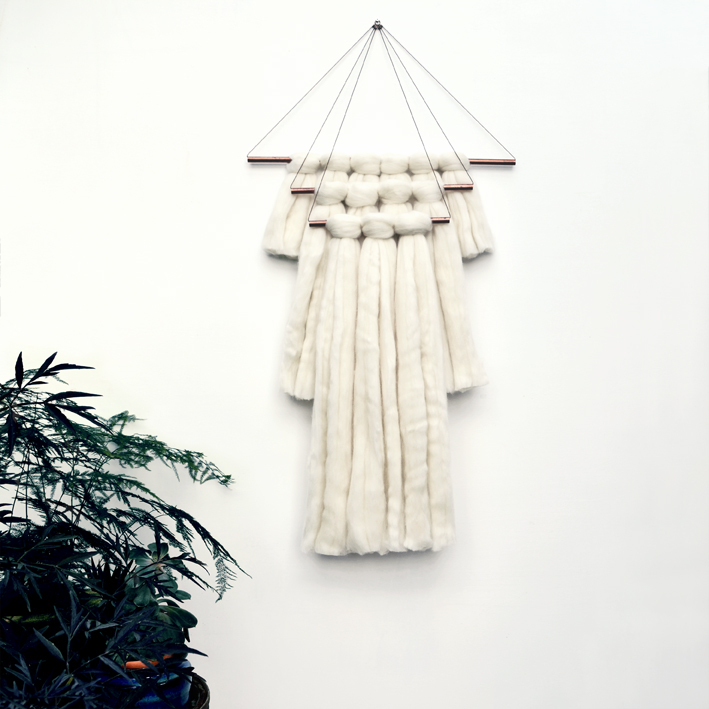 Elkeland wallhanging white - Moderne macramé