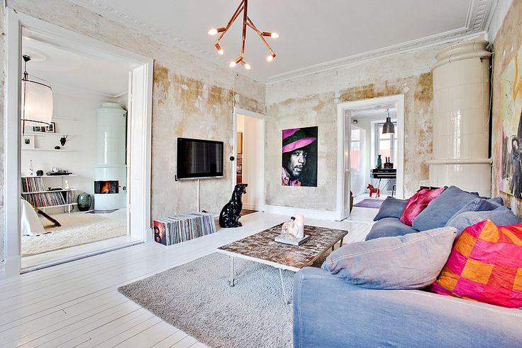 Le choix du blanc en décoration d'intérieur - Goteborg small apartment - via bjurfors.se