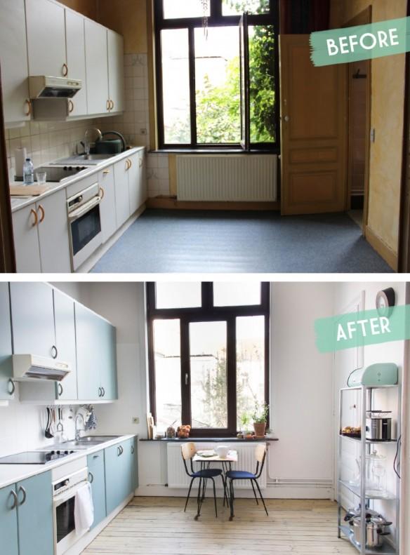 Relooker sa cuisine : repeindre les placards || Une cuisine relookée par Auguste et Claire