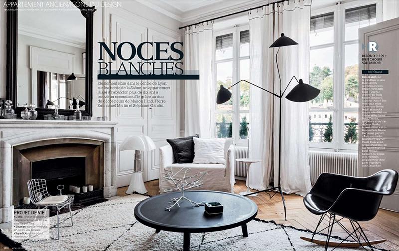 Style ethnique en blanc et noir par maison hand for Decoration maison francaise