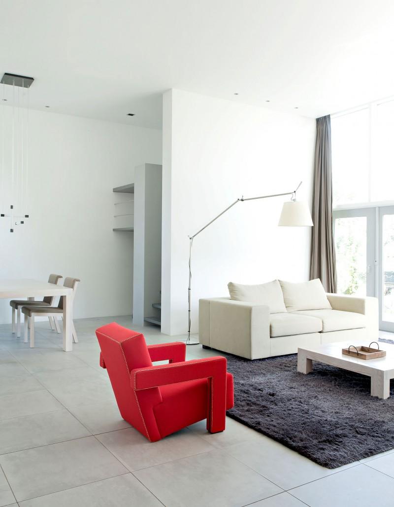 Le choix du blanc en décoration d'intérieur - Rietveld Bungalow par le designer Remy Meijers