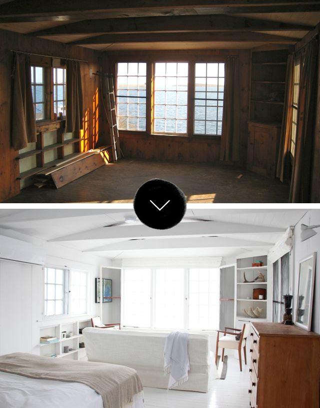 Le choix du blanc en décoration d'intérieur - Un avant après Deb Nelson's nova scotia getaway