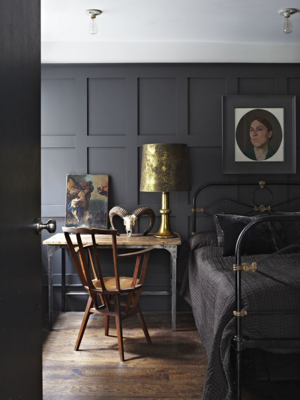 Farrow & Ball - Black and golden detail