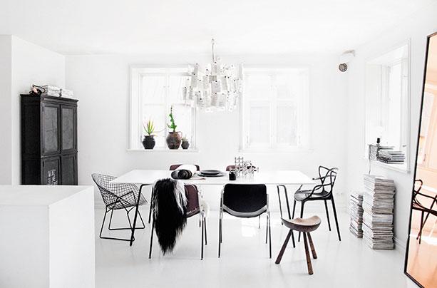 Le choix du blanc en décoration d'intérieur - L'intérieur de Jenny Hjalmarsson Boldsen