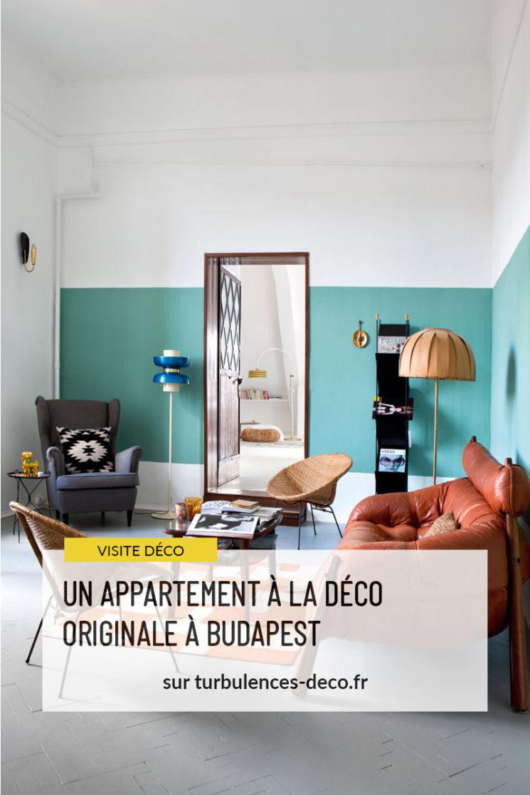 Un appartement à la déco originale à Budapest par le studio Zolpan à retrouver sur Turbulences Déco