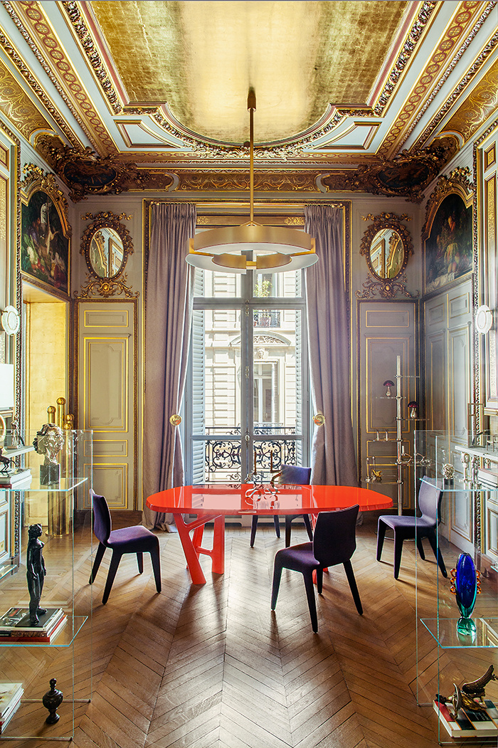 Klavs Rosenfalck, architecte d'intérieur - Paris appartement design || Une touche d'or en décoration