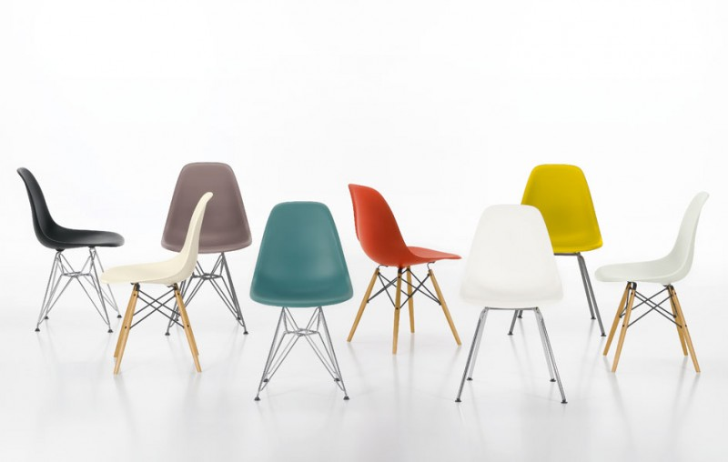 Des chaises design de couleur d pareill e for Imitation chaise vitra