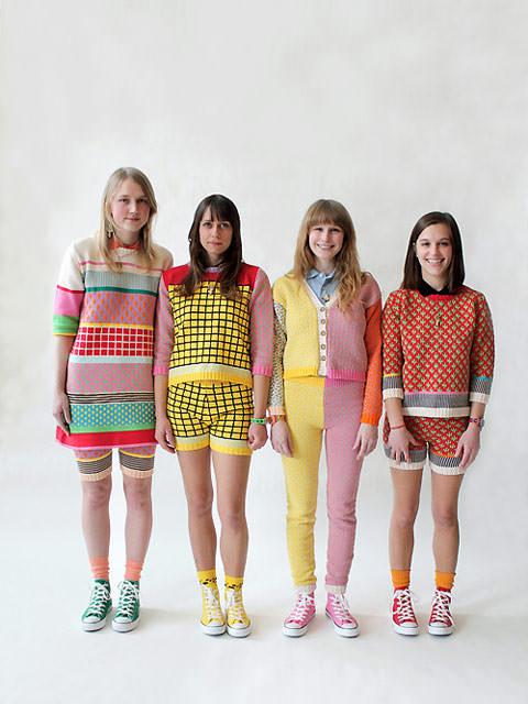 Les tricots d'Annie Larson || Sous influence du mouvement Memphis