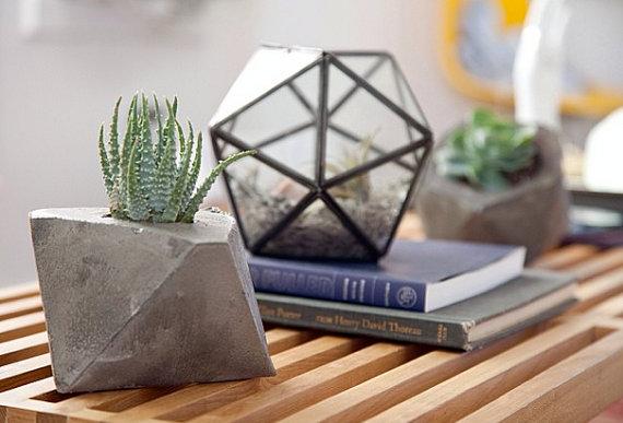 Concrete Geometric - Pots en ciment