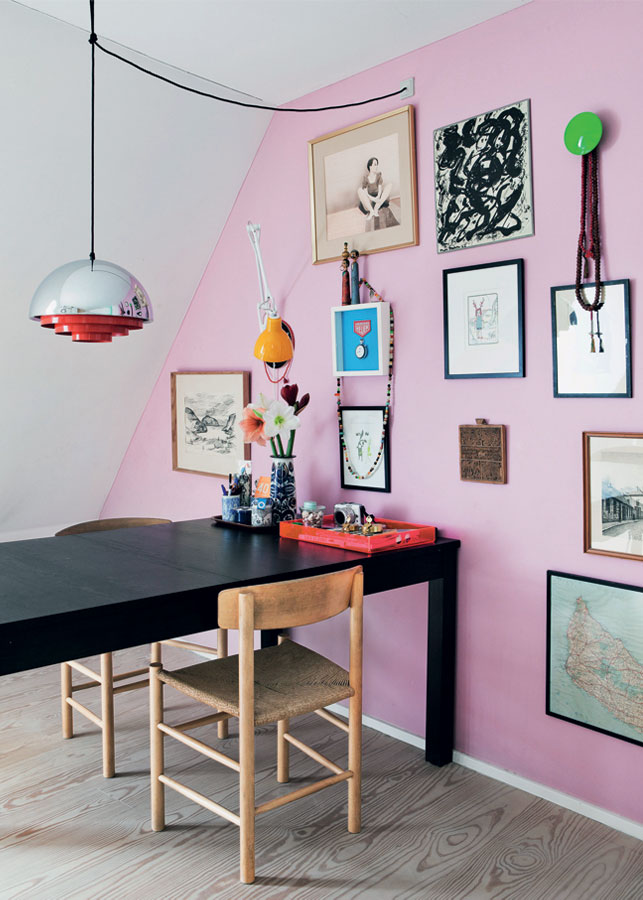 L'appartement coloré de la graphiste Sabine Brandt à Copenhague