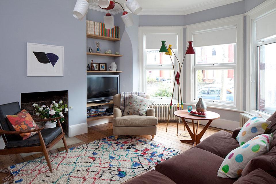 Tamsin Flower London interior    Beldi Rugs