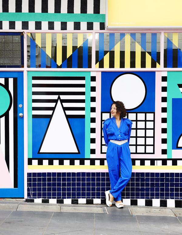 La vitrine de la boutique Third Drawer Down à Mebourne par Camille Walala