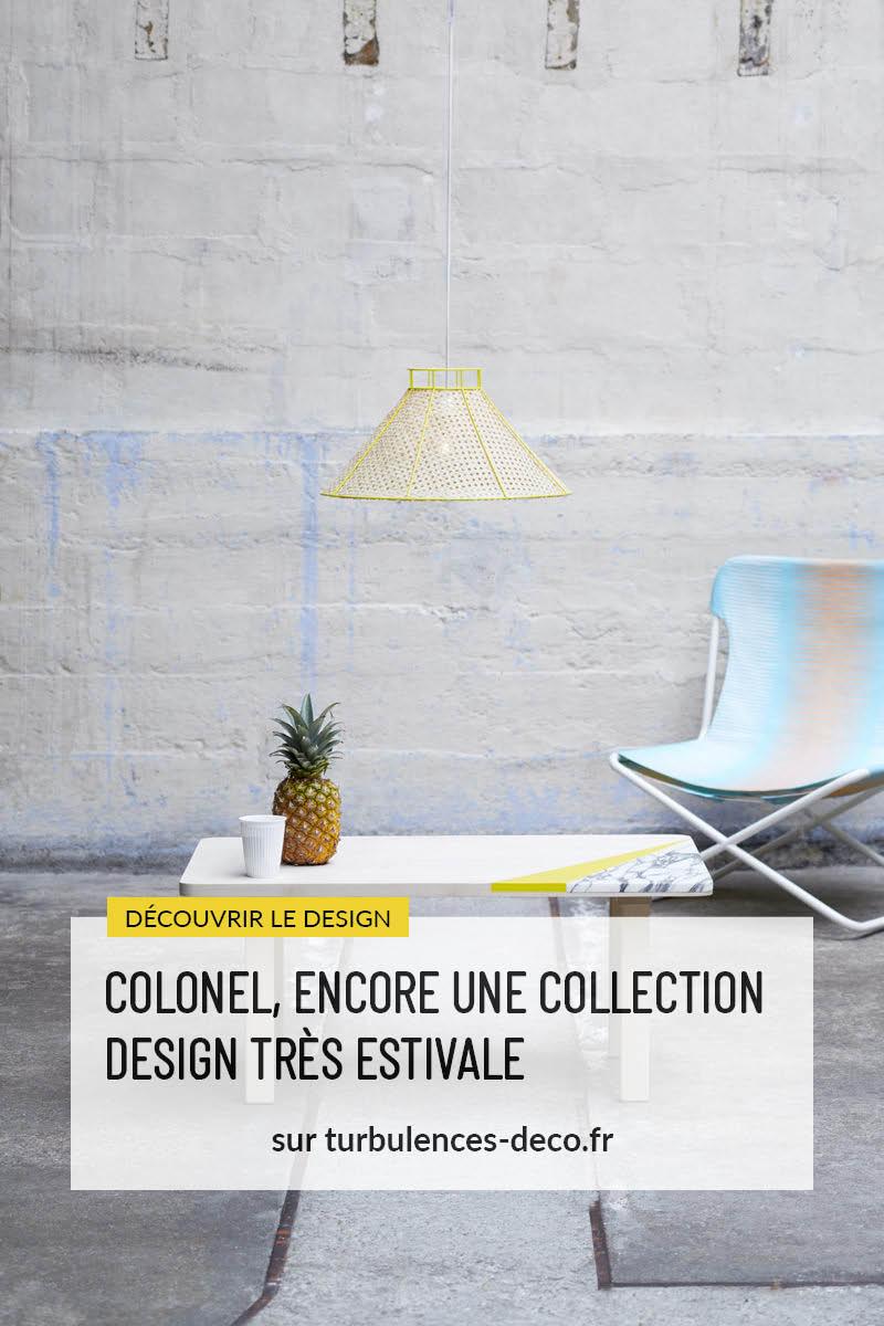 Découvrez la nouvelle collection 2015 de l'éditeur de mobilier et objet design Colonel sur Turbulences Déco