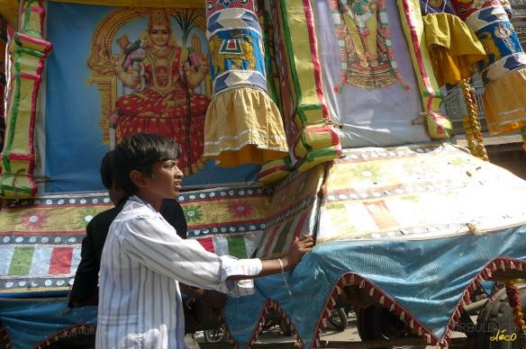 Voyage en Inde - Procession religieuse à Madurai
