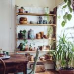 Fleurs, plantes et esprit bohème hippie