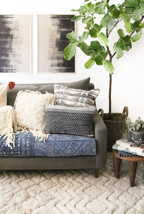 Amber interiors for Loloi rugs and pillows