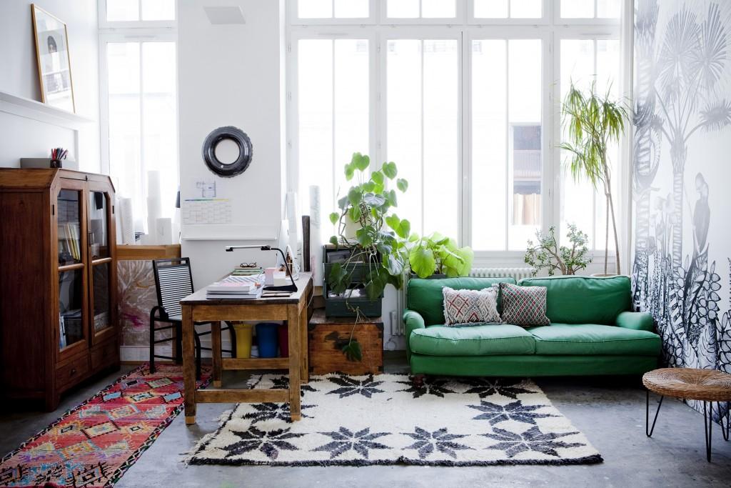 L'appartement parisien de Cécile Figuette, fondatrice de la marque de papier-peint Bienfait