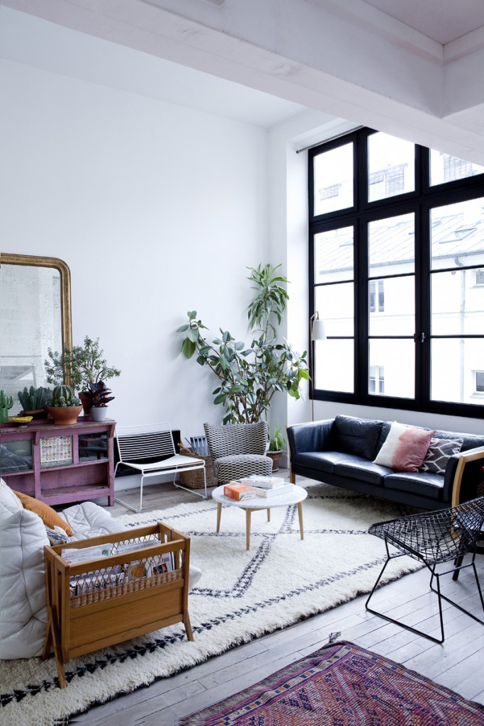 Le loft de Cécile Figuette, créatrices des papiers-peints Bien Fait