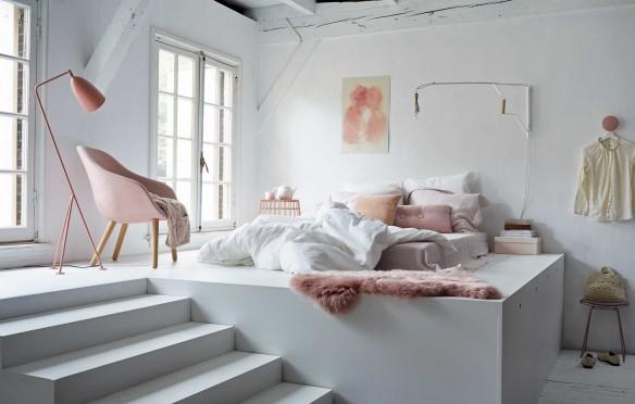 Chambre A Coucher Rose Pale: Chambre à coucher de style shabby chic ...