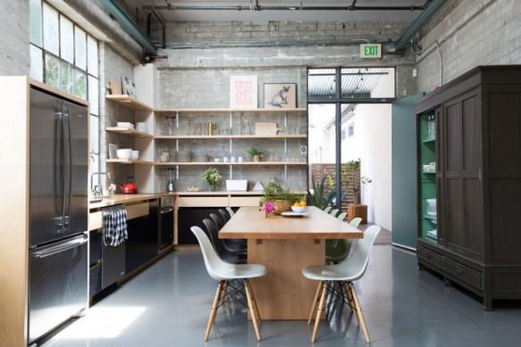 cuisines contemporaines r chauff es par le bois. Black Bedroom Furniture Sets. Home Design Ideas