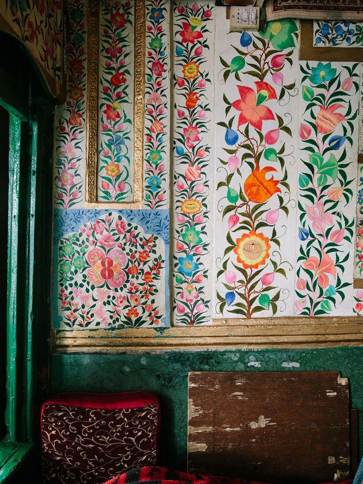 Peintures d'une demeure au Kashmir