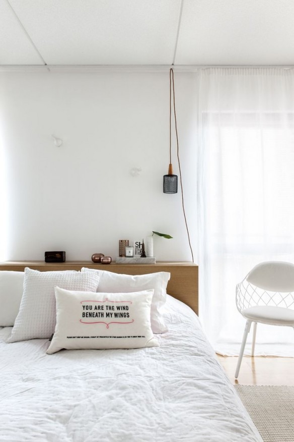 Une chambre blanche    styling Laura Seppanen
