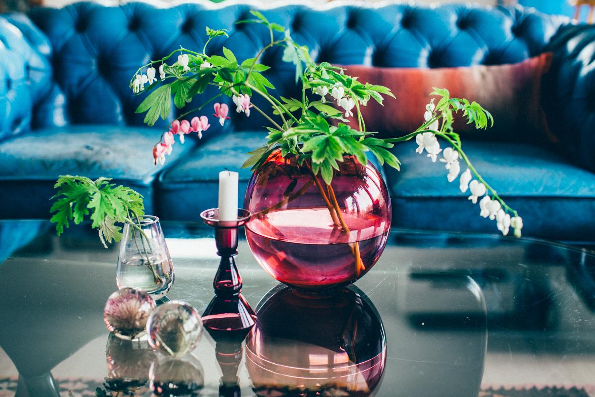 La maison de Kristin Lagerqvist-Krickelin, le bleu comme fil conducteur