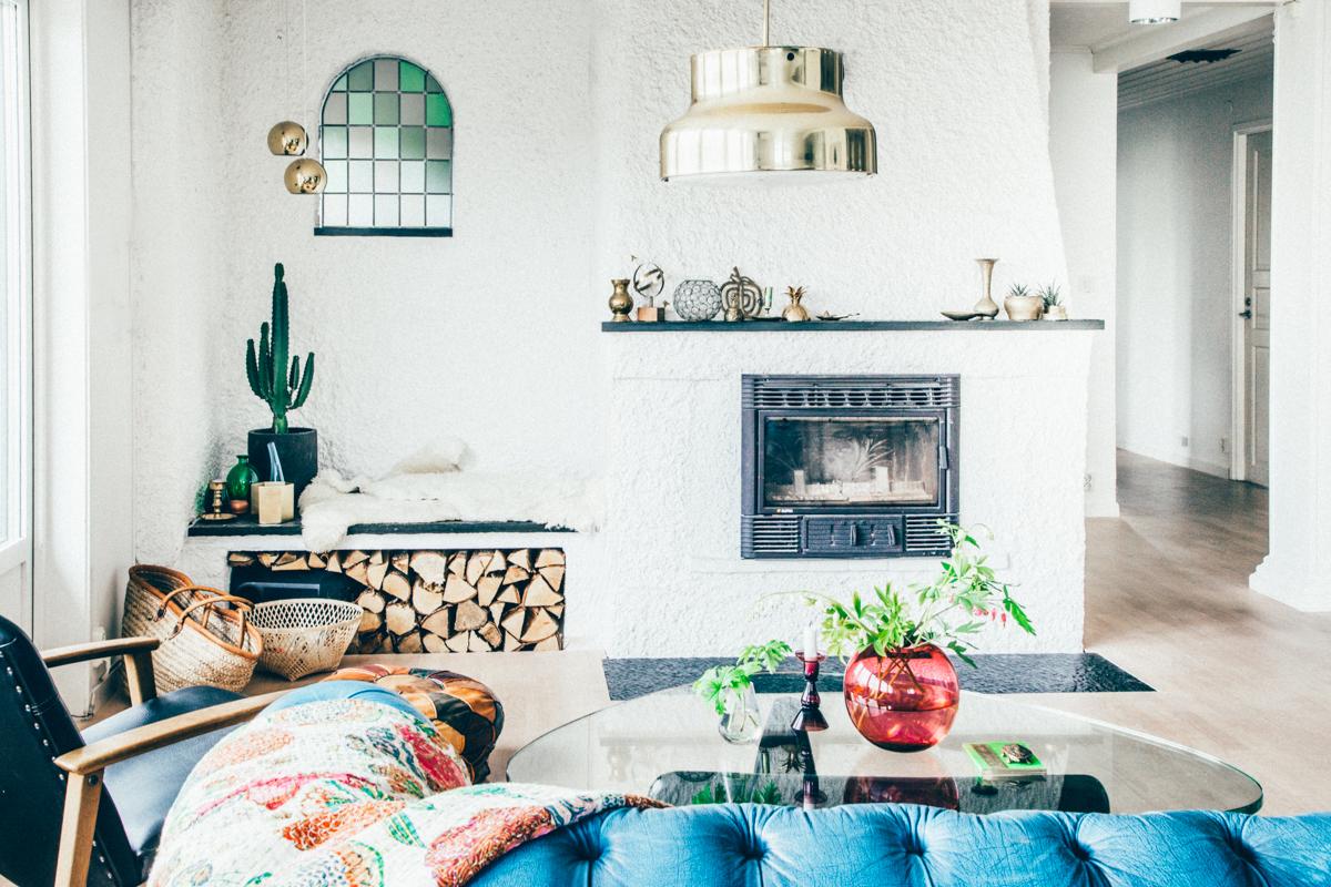 La maison de Kristin Lagerqvist-Krickelin    Une suspension dorée