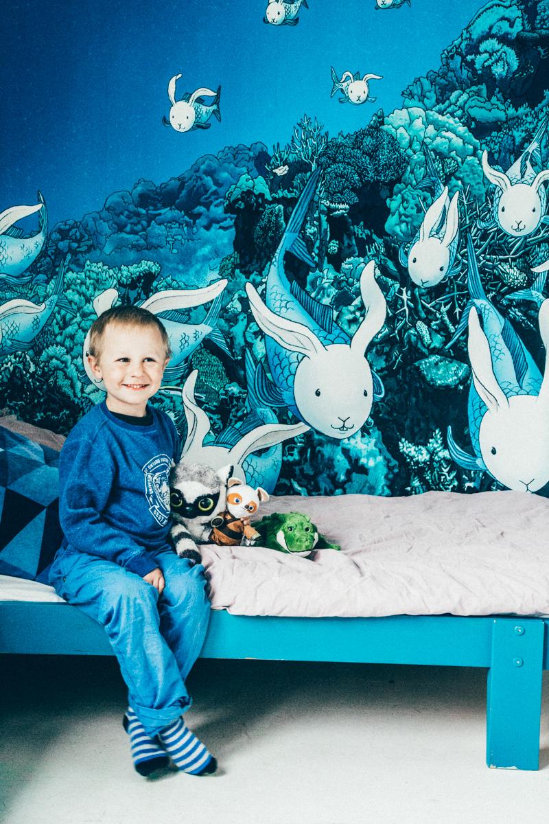 La maison de Kristin Lagerqvist-Krickelin || Papier peint Mr Pershall