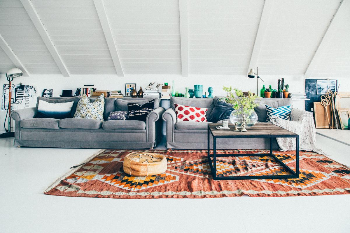 La maison de Kristin Lagerqvist-Krickelin || Aménagement sous les combles