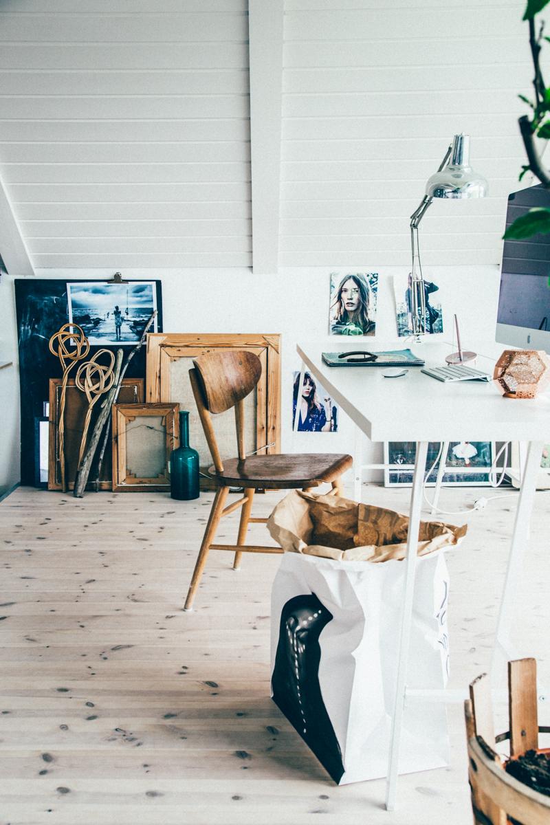 La maison de Kristin Lagerqvist-Krickelin || Un bureau sous les combles
