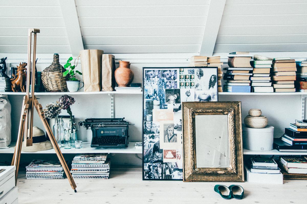 La maison de Kristin Lagerqvist-Krickelin    Un bureau sous les combles