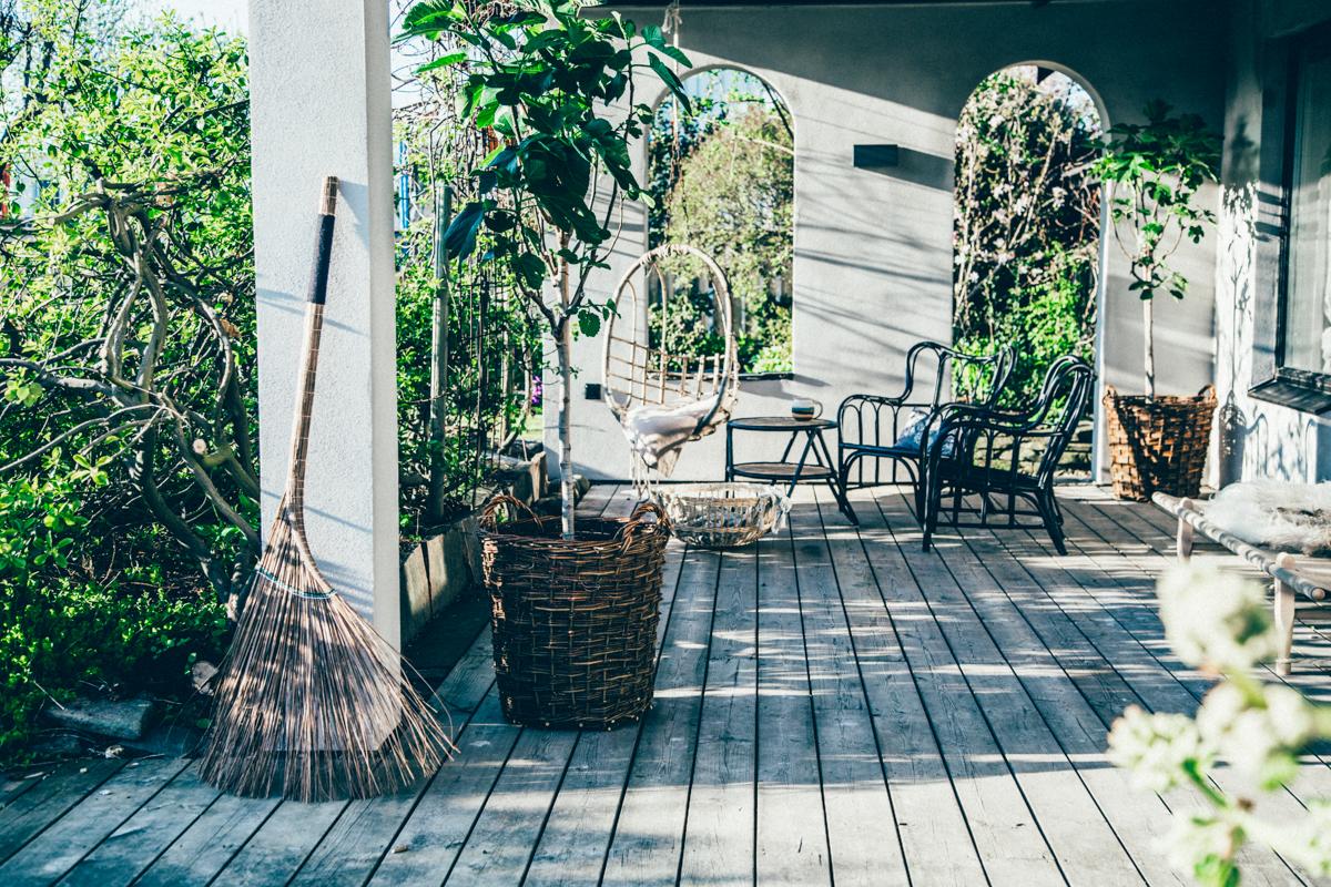 La maison de Kristin Lagerqvist-Krickelin    Le jardin