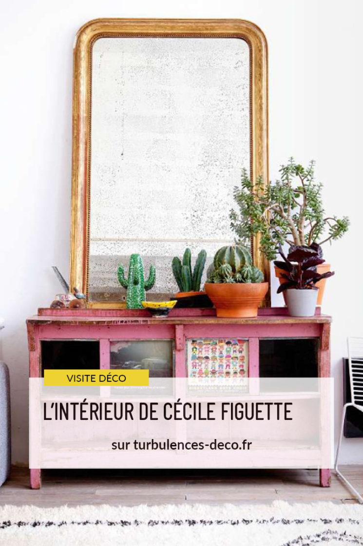 L'intérieur de Cécile Figuette, créatrice de la marque de papier-peint Bien Fait à retrouver sur Turbulences Déco