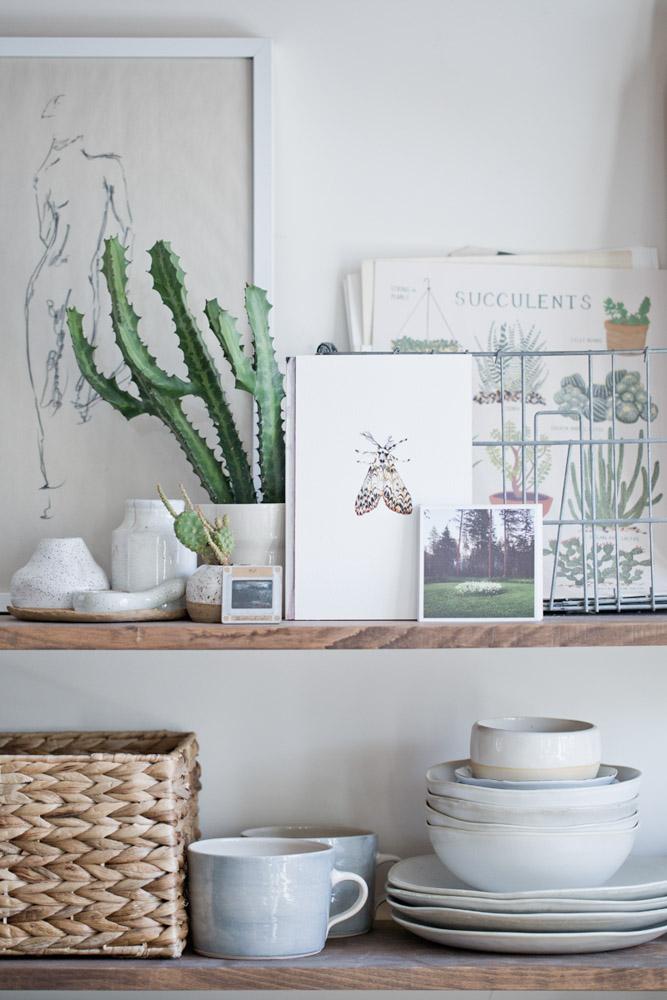 L'appartement d'Alyssa and Paul Hoppe à Brooklyn avec des étagères champêtres