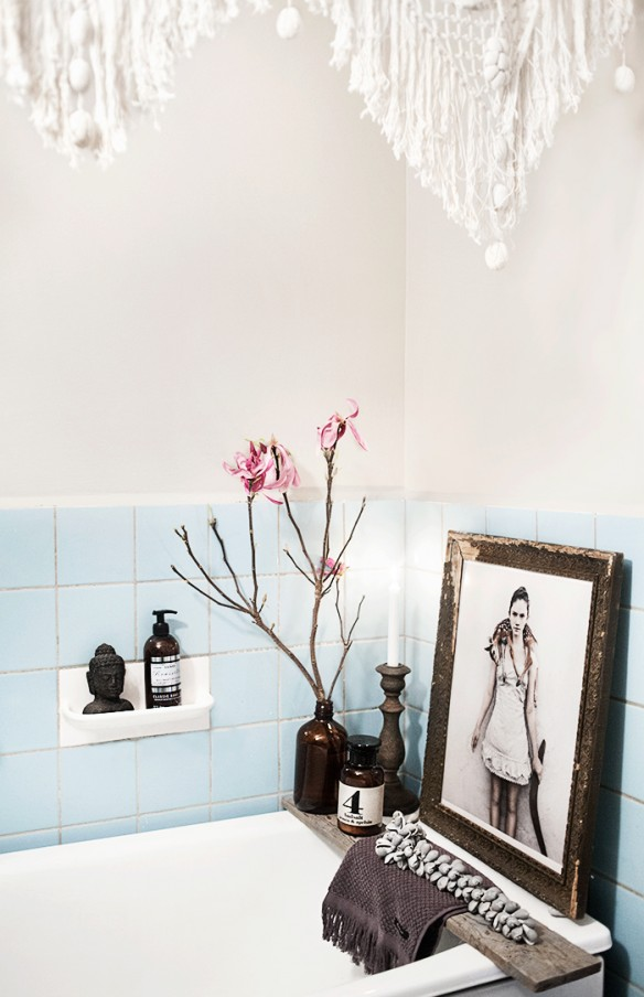 Anna Malmberg intérieur || Une salle de bain bohème