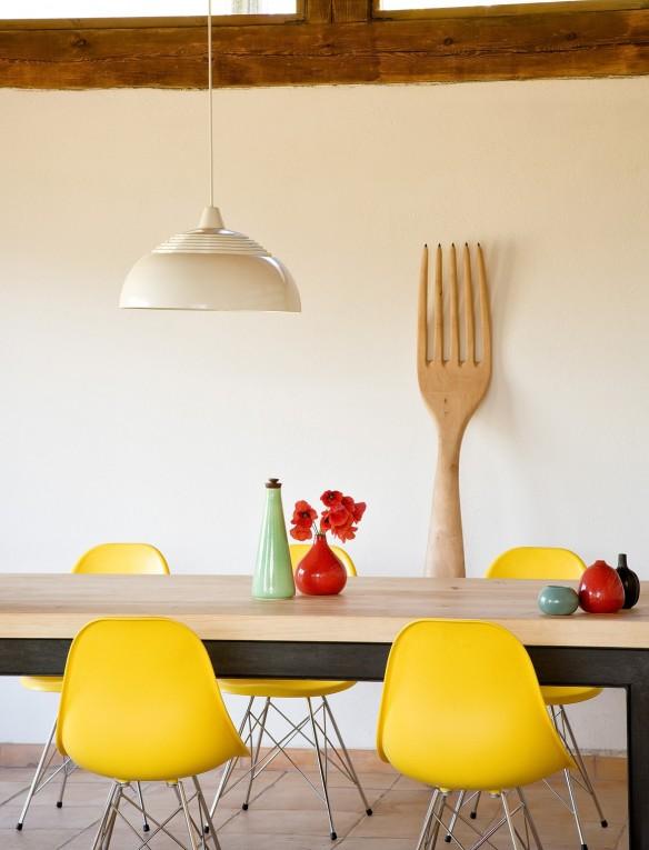 Le ranch d'Helena Rohner || Un coin repas plein d'humour avec sa fourchette