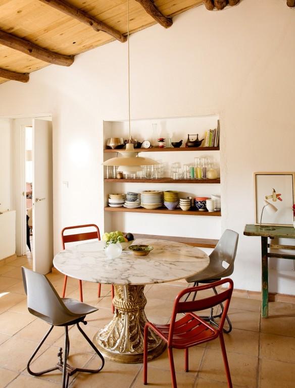 Le ranch d'Helena Rohner || Un coin repas rustique éclectique
