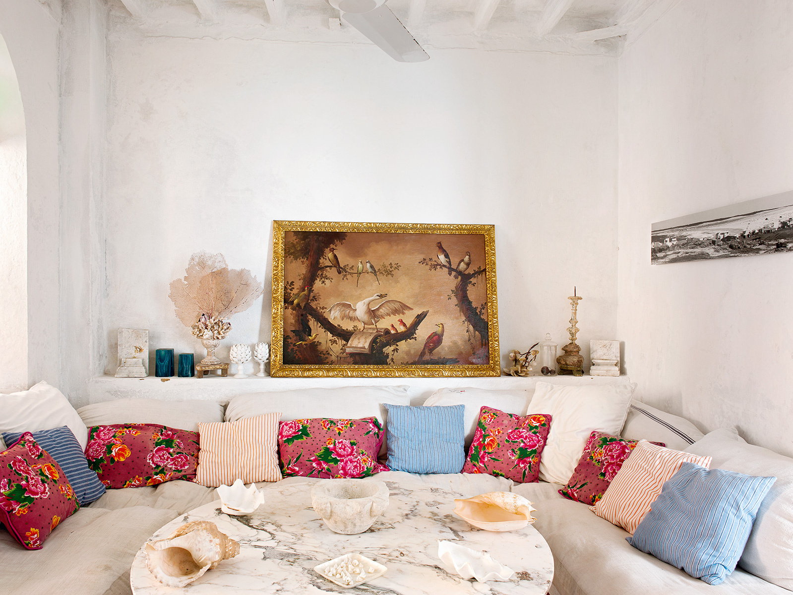 Réalisation de Maria Llado    Une maison à Menorca bohème et kitsch