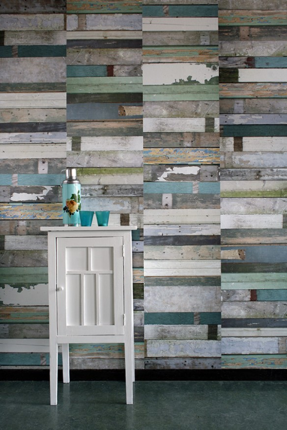 Studio Ditte - Scrapwood wallpaper green