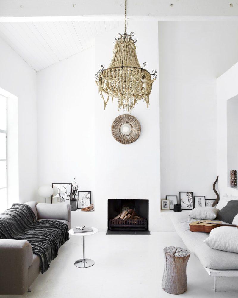 L'intérieur blanc et lumineux de la styliste Shelley Street