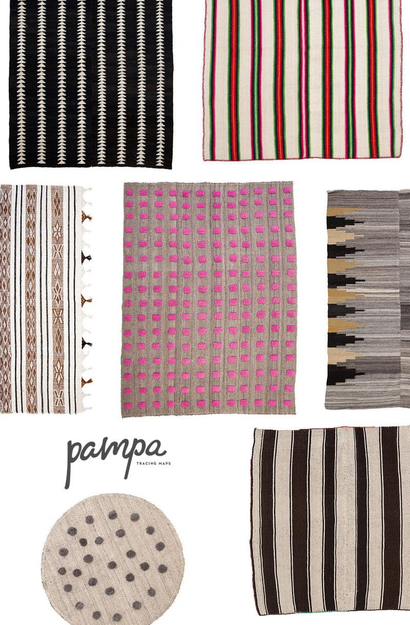 Sélection de tapis Pampa, tapis d'Amérique du Sud