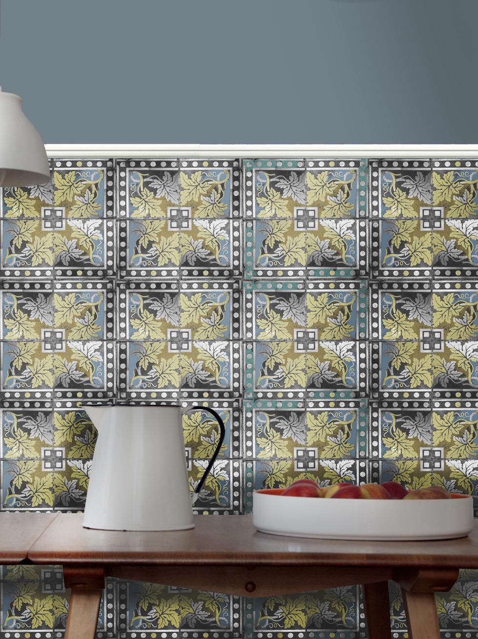 Sélection de papiers-peints en trompe-l'œil    Papiers-peints Louise Body - collection Paper tiles