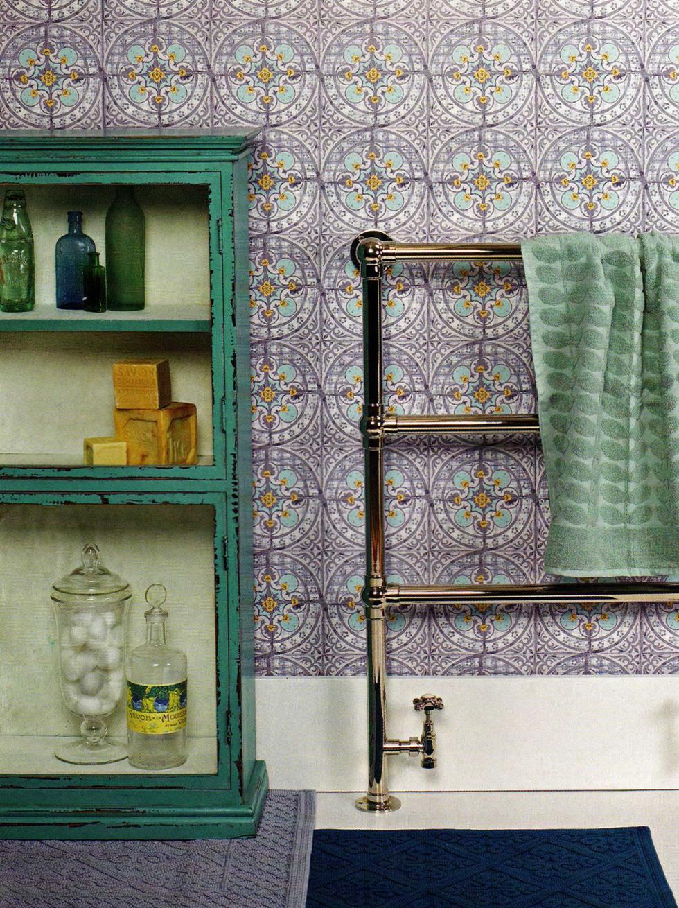 Sélection de papiers-peints en trompe-l'œil || Papiers-peints Louise Body - collection Paper tiles