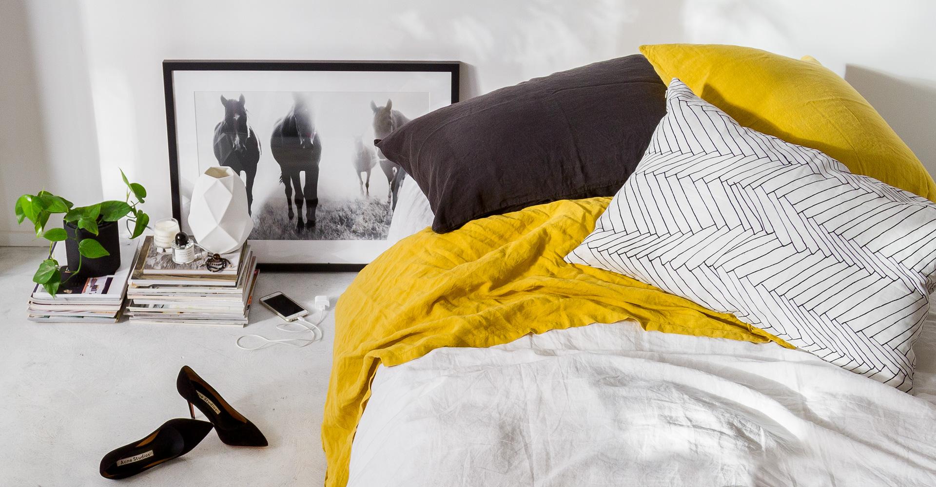 Indie home collective lookbook avec une photo de la série Pampa Horses