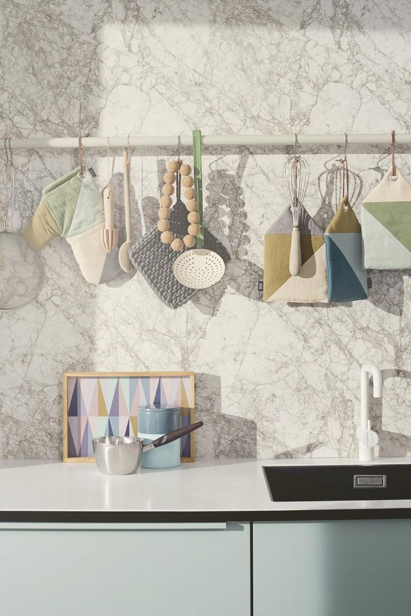 Sélection de papiers-peints en trompe-l'œil || Papier-peint Marble par Ferm Living