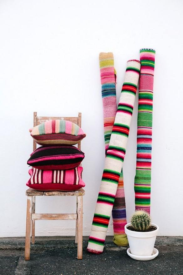 Les tapis Pampa de couleurs vives, inspirés par la culture des Andes