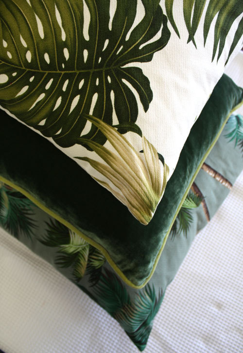 Boutique Etsy Homeworks Design Store (Sydney) || Coussins retro Monstera