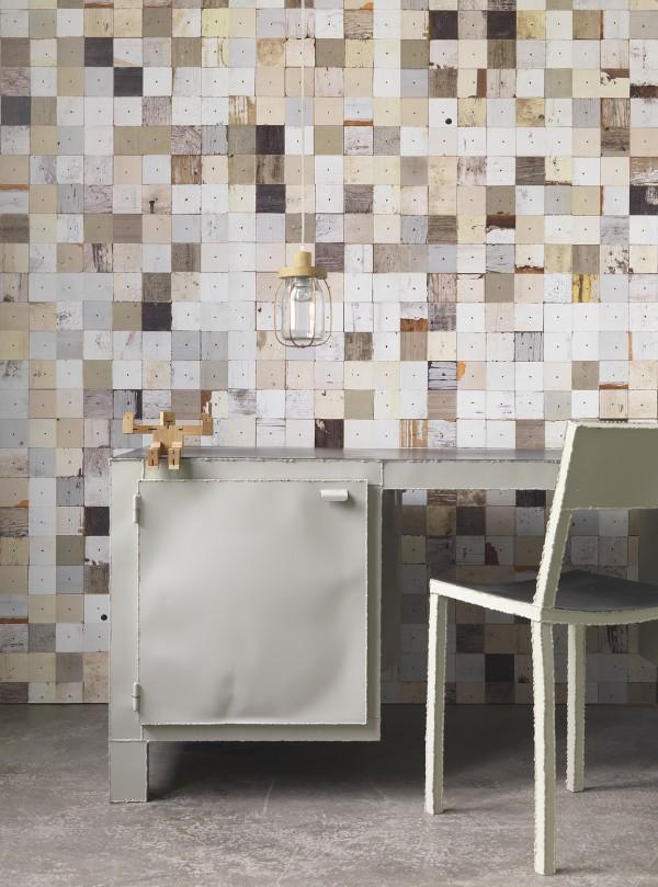 Sélection de papiers-peints en trompe-l'œil    NLXL - Scrapwood wallpaper by Piet Hein Eek